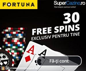 efortuna bonus bun venit pana la 2000 RON + 30 rotiri gratuite jocuri casino online