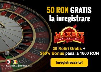 maxbet casino banner bonus fara depunere 50 ron gratis
