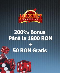 maxbet bonus bun venit 250% pana la 1800 Ron + 50 ron gratis