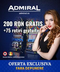 200 ron gratis + 75 rotiri gratuite
