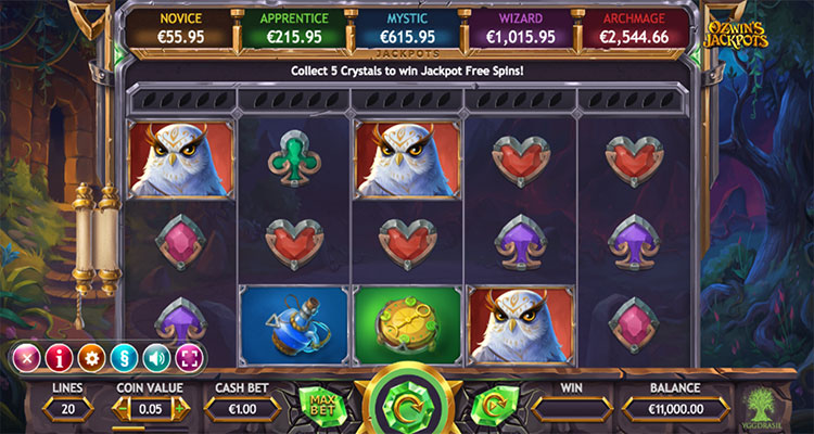 ozwins jackpots yggdrasil casino