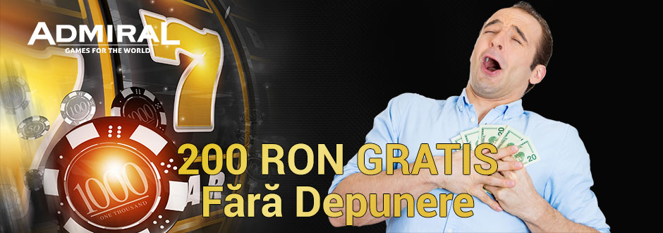 Admiral bonus 200 RON fără depunere