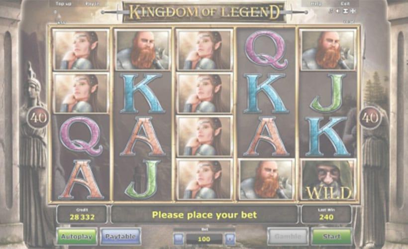 logo slot kingdom of legend gratis