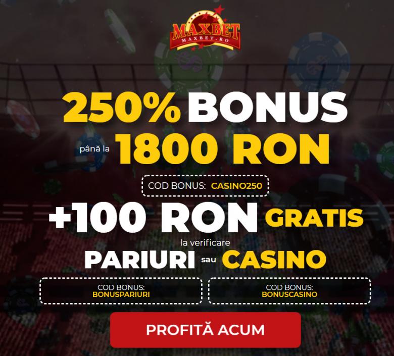 bonus pariuri fără depunere maxbet