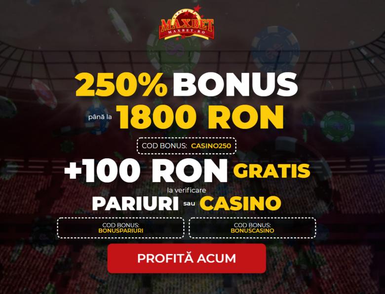 100 ron gratis fara depunere maxbet casino pariuri