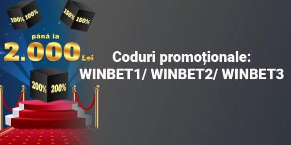 bonus de bun venit Winbet Romania