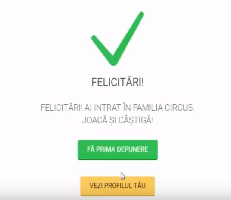 confirmare creare cont circus