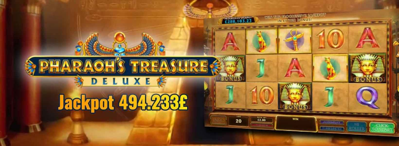 jackpot pharaos treasure deluxe