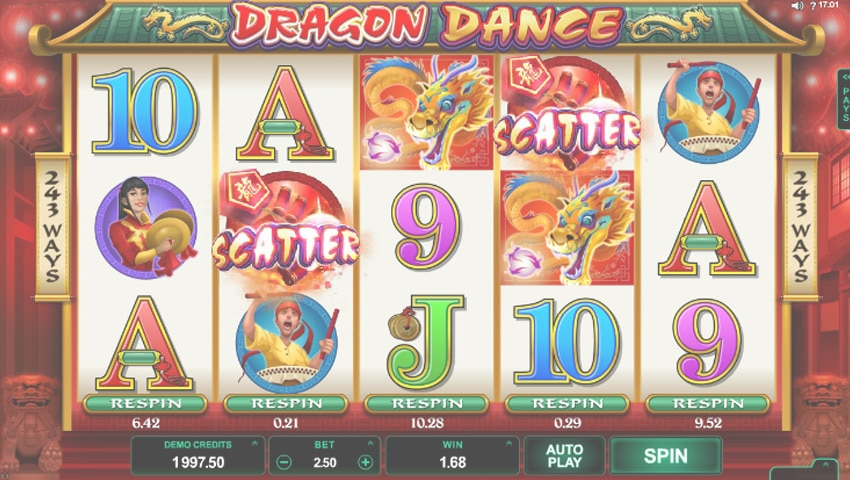 dragon dance slot gratis