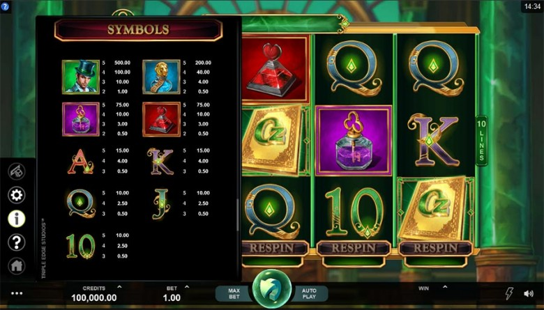 book of oz jocuri microgaming