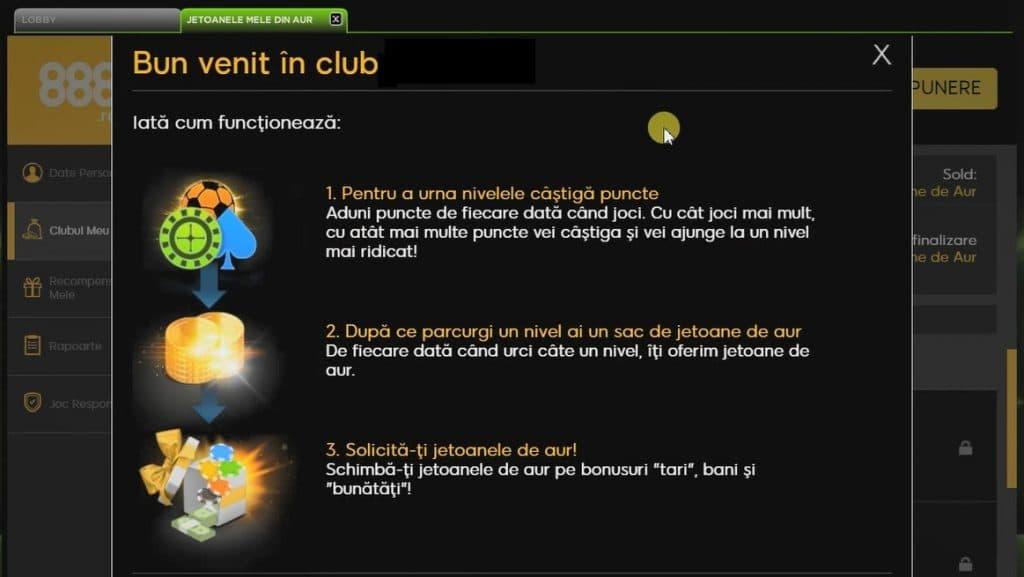 club jucatori puncte 888 online
