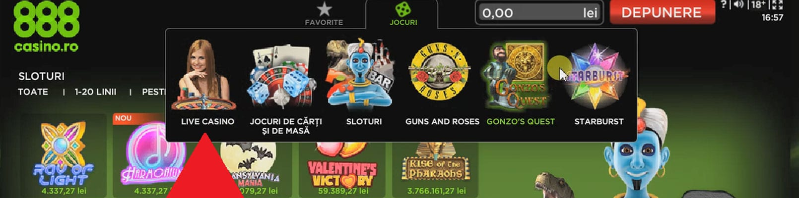 jocuri live casino 888 cu dealeri live