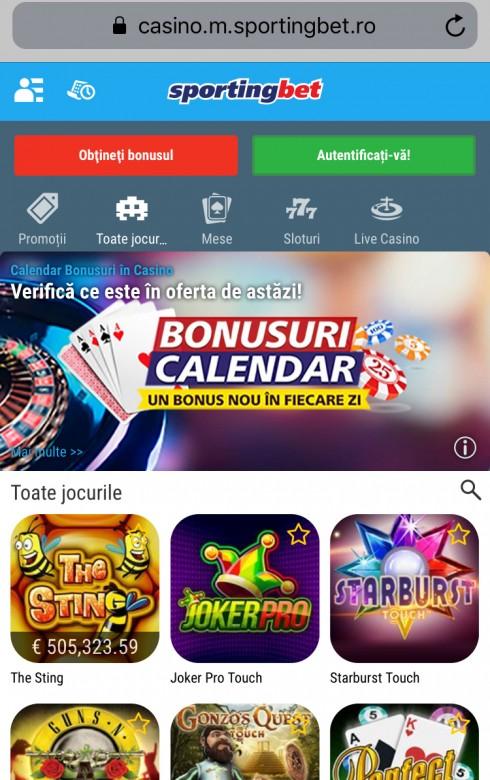 sportingbet mobile screenshot
