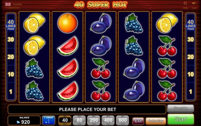 40 super hot max bet slot online
