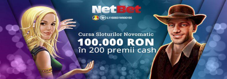 Netbet Casino Cursa Sloturilor cu Novomatic