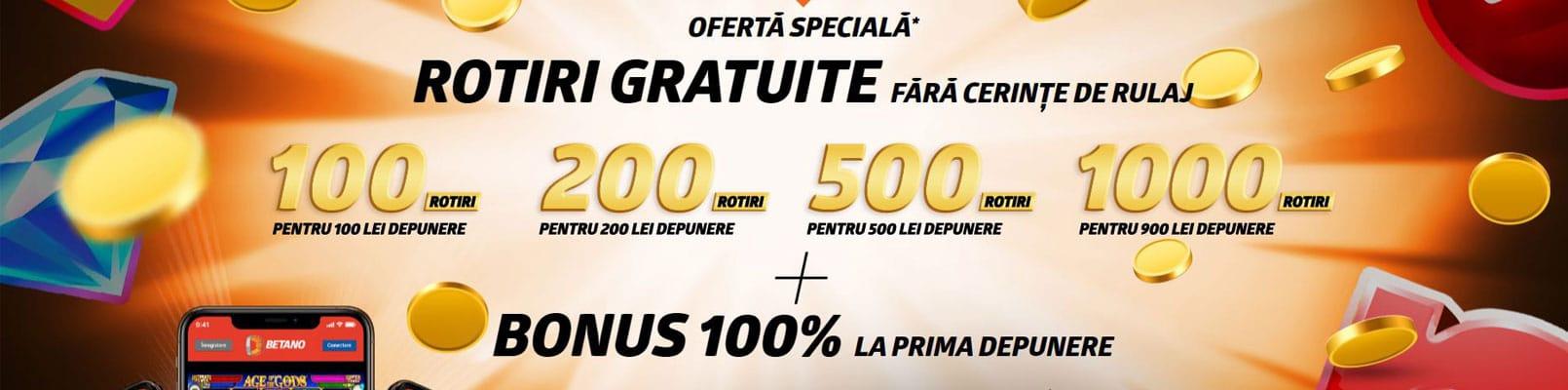 500 RON bonus bun venit betano