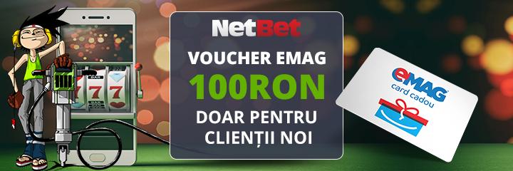 bonus netbet 100 RON voucher emag