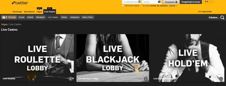 jocuri live casino betfair online