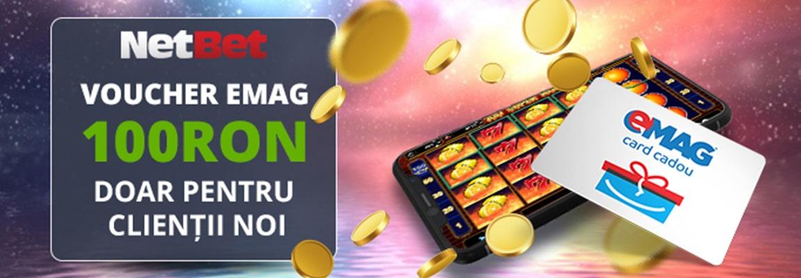 ofertă specială netbet voucher emag 100 RON