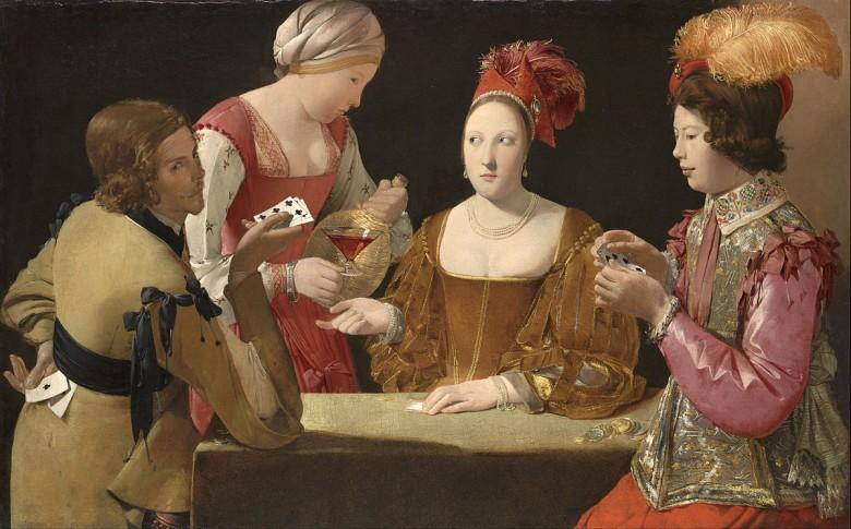tablouri jocuri de noroc trișorii cu careu de ași de la tour