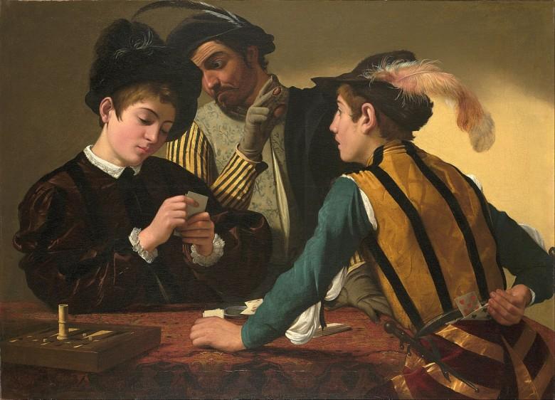 tablouri jocuri de noroc trișorii michelangelo