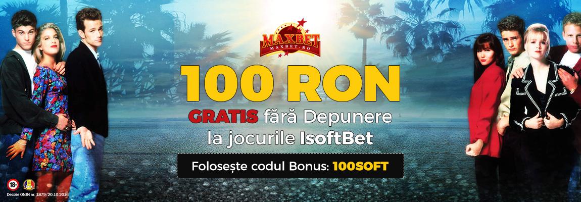 100 Ron Gratis maxbet isoftbet