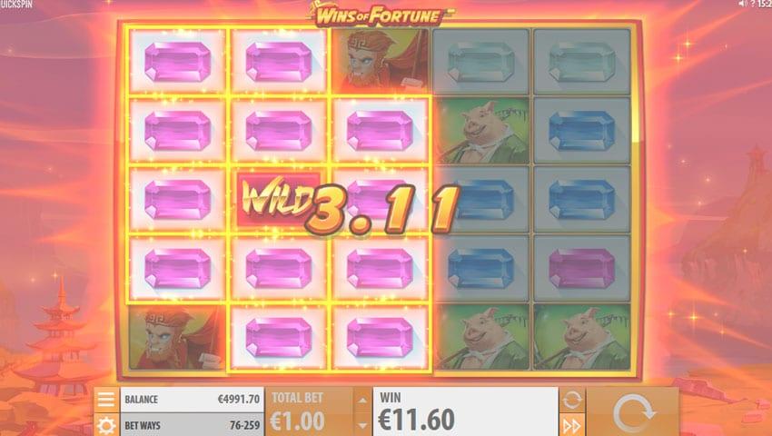 wins of fortune slot gratis