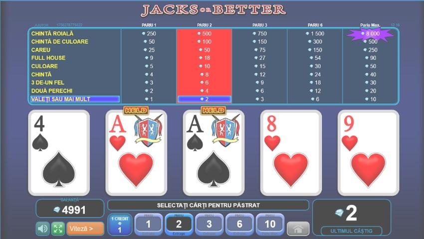 jacks of better slot gratis