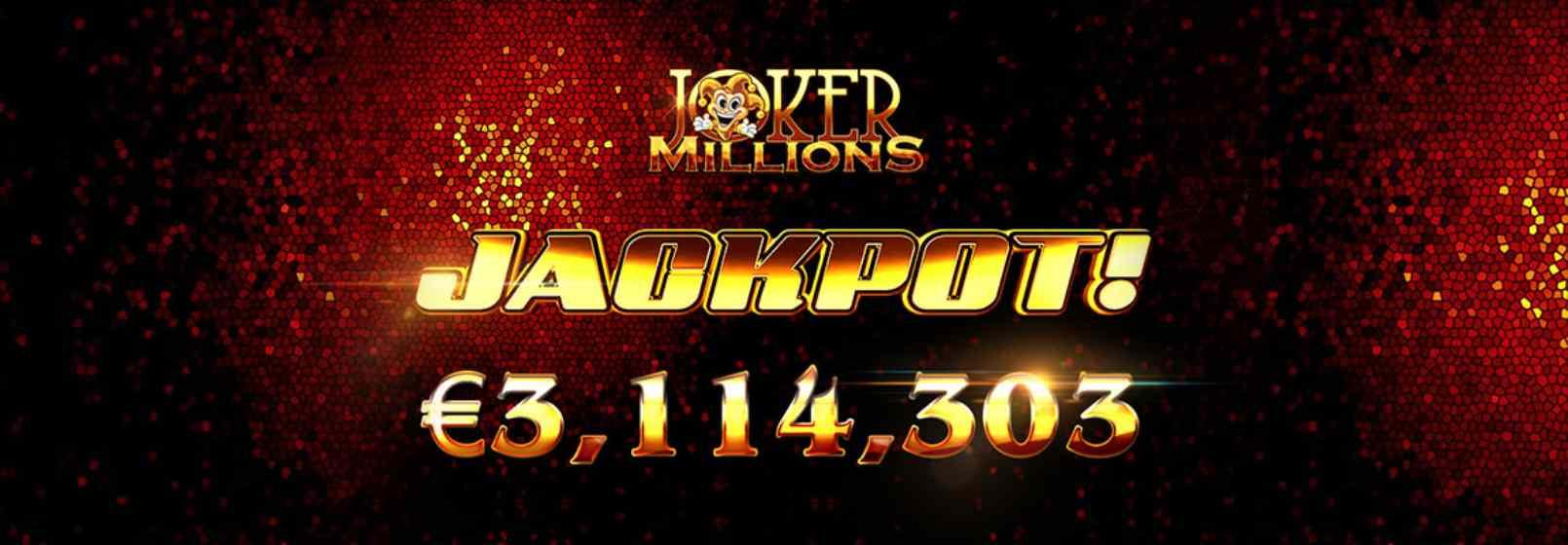 joker millions jackpot 3 milioane