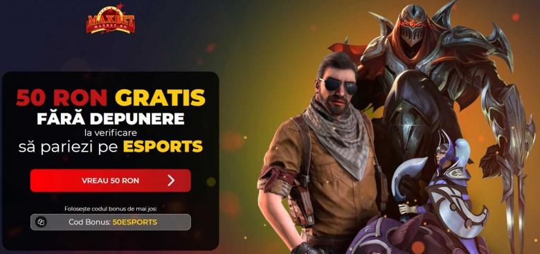 50 ron gratis pariuri esports maxbet