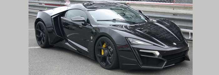 cele mai scumpe mașini din lume lykan Hypersport