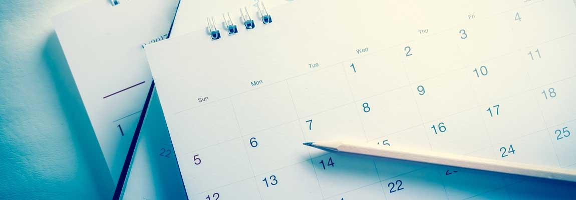 calendar managementul timpului