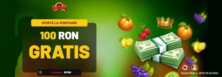 100 ron gratis bee fee games maxbet