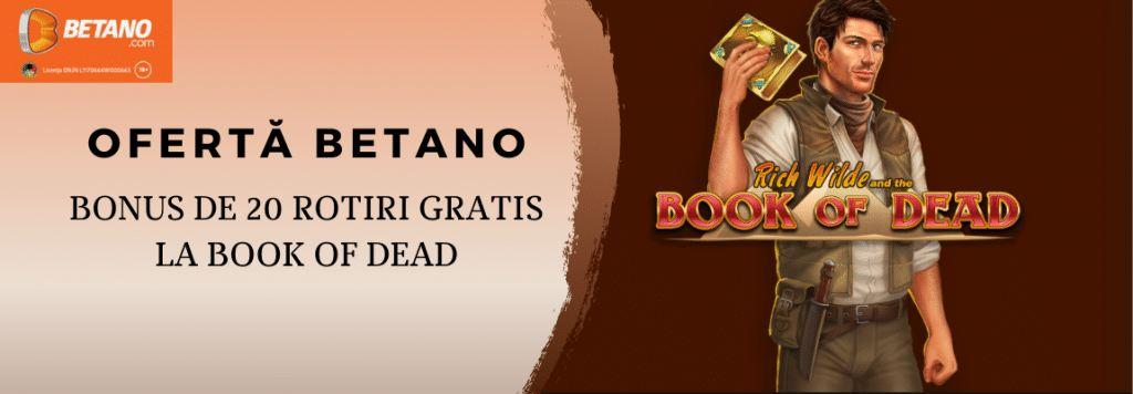 bonus la sloturile online cu rotiri gratuite book of dead