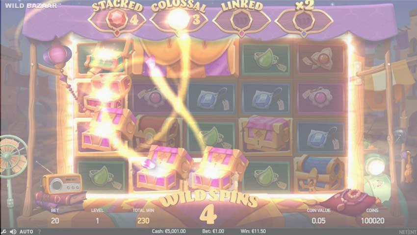wild bazaar ecran de joc