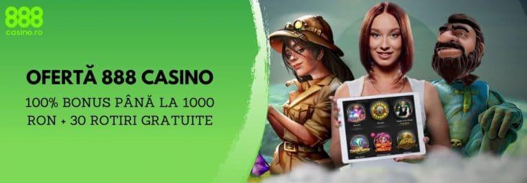 bonus 100% si 30 rotiri gratuite 888 casino
