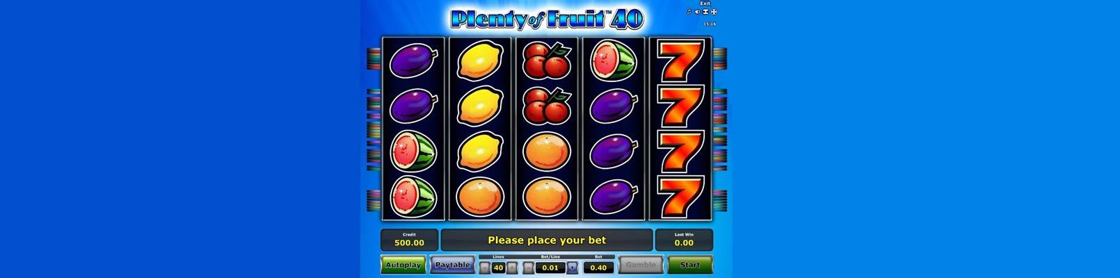 plenty of fruite - top 3 jocuri online cu castiguri reale in bani