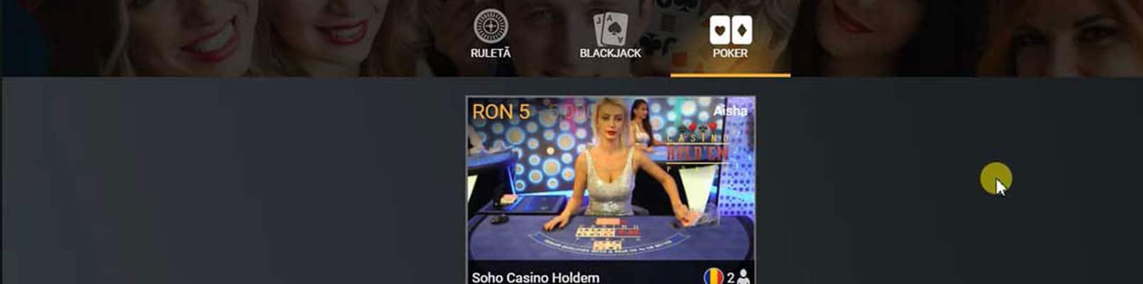 joc de poker live casa pariurilor