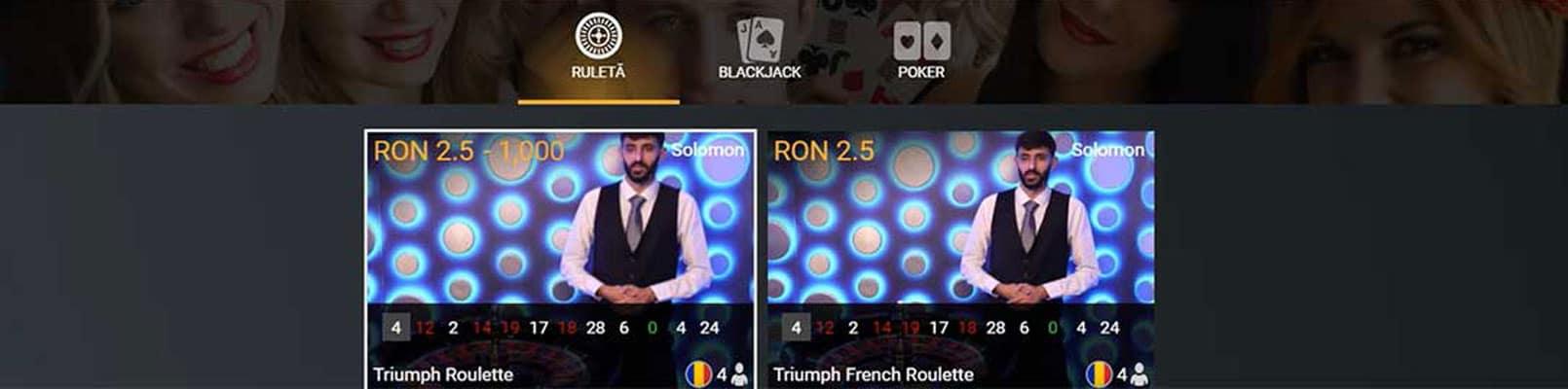 jocuri de ruleta casa pariurilor live