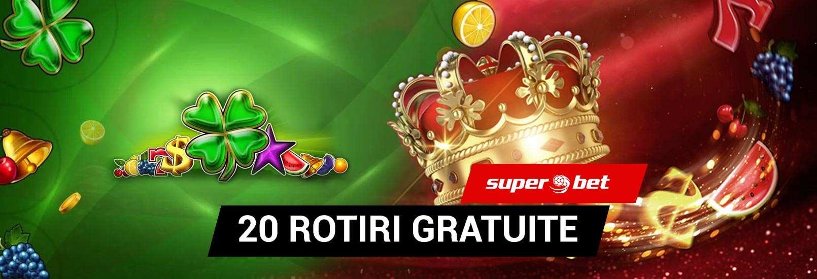 banner cu bonus 20 rotiri gratuite superbet
