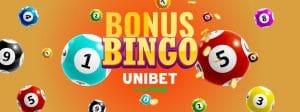 Bonus bingo Unibet fără depunere