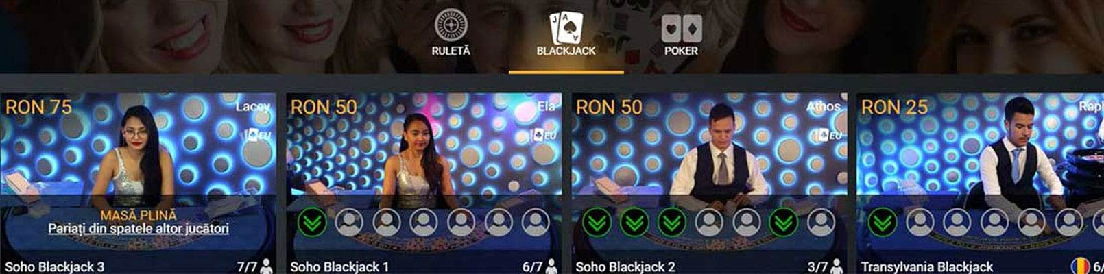 casa pariurilor live casino blackjack