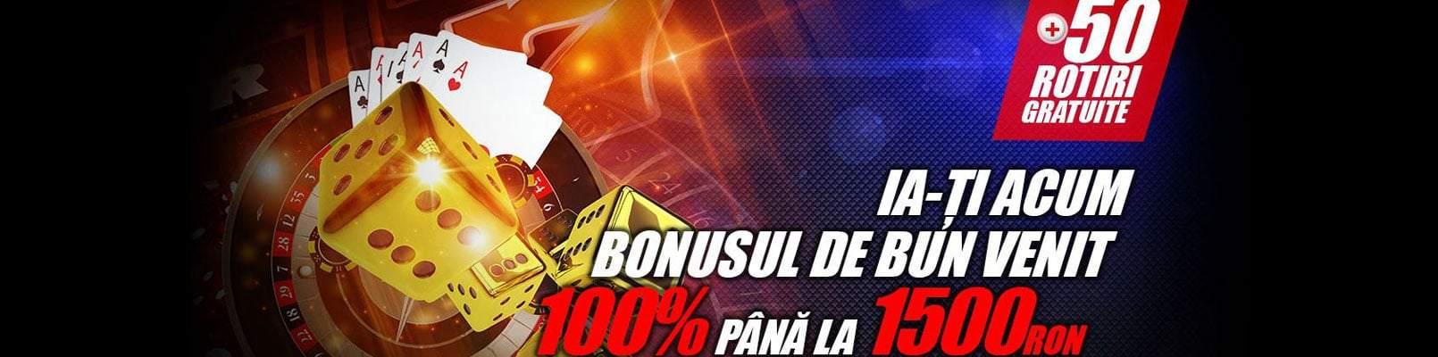 1.500 RON bonus bun venit Winmasters
