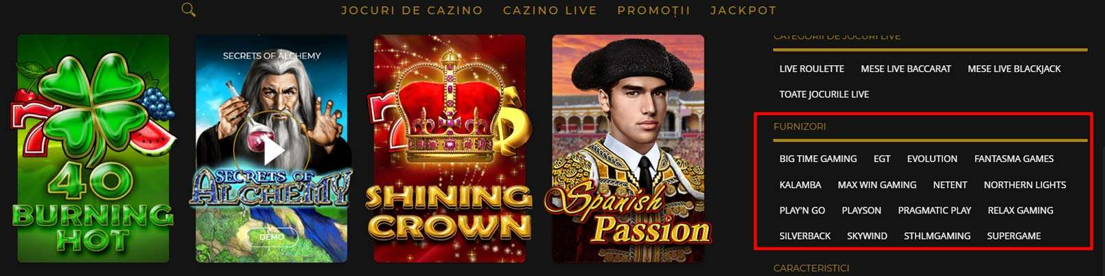 furnizori jocuri princess casino