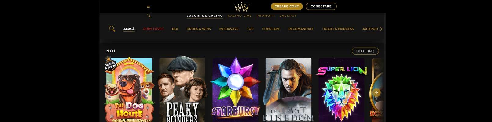 interfata site princess casino