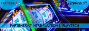 parteneriat playson playtech games