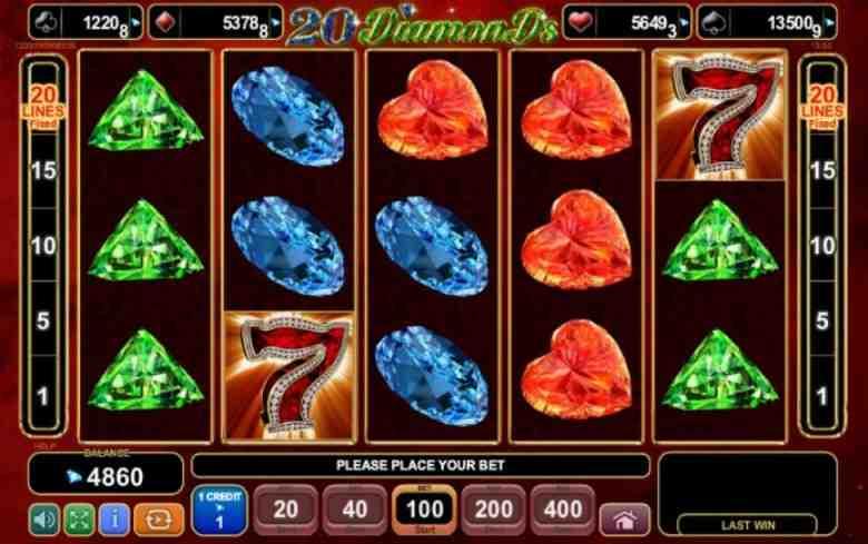 20 diamonds sloturi femei