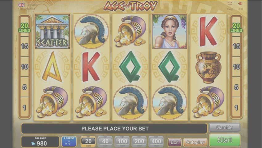 slot age of troy gratis egt