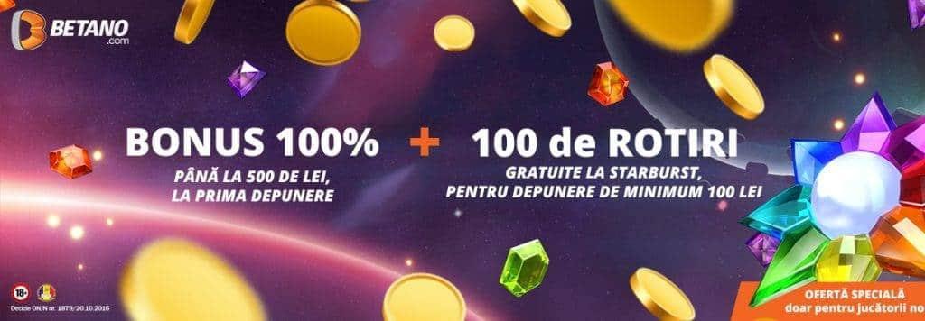 bonus betano 100 rotiri gratis la sloturi