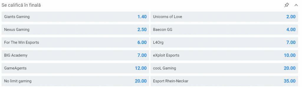 oferta nexus gaming betano masters europe pariu calificare